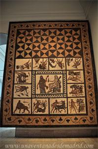 Museo Arqueológico Nacional, Mosaico de los trabajos de Hércules