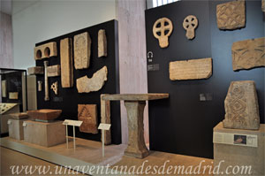 Museo Arqueológico Nacional, Muestra de restos visigodos hallados en diferentes yacimientos arqueológicos