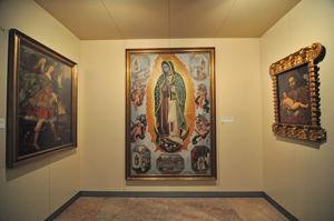 Museo de América, Comunicación Iconográfica Colonial (Virgen de Guadalupe, San José y el Niño y Arcángel San Rafael)