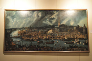 "Museo de América, Cuadro ""Vista de Sevilla"""
