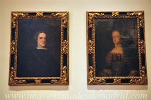 Museo de Historia de Madrid, Retratos de Carlos II y su esposa, Mariana de Neoburgo. Anónimos. Último cuarto del siglo XVII