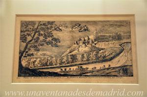 """Museo de Historia de Madrid, """"El Alcázar"""", grabado del ilustrador Louis Meunier realizado entre 1665 y 1668"""