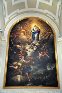 """Museo de Historia de Madrid, Cuadro """"San Fernando ante la Virgen"""", de Luca Giordano. Principios del siglo XVIII"""