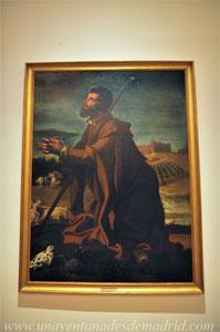 """Museo de Historia de Madrid, """"San Isidro en oración"""", óleo de Bartolomé González de 1622"""