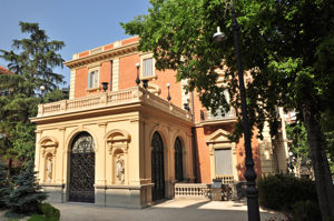 Museo Lázaro Galdiano, Antigua entrada principal al Palacio de Parque Florido
