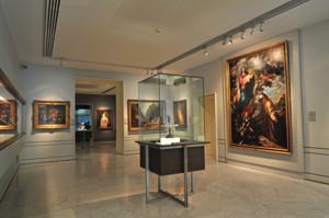 """Museo Lázaro Galdiano, Taza de Julio César y Cuadro """"Aparición de la Virgen a San Francisco"""""""