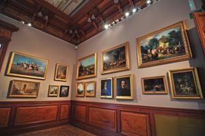 Museo Lázaro Galdiano, Cuadros de Pérez Villaamil, Eugenio Lucas y Francisco Lameyer