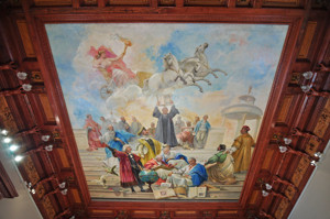 Museo Lázaro Galdiano, Techo del despacho-biblioteca de Don Jose Lázaro Galdiano