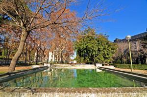 Estanque con dos fuentes de la Quinta de los Molinos