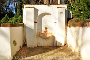 Fuente con taza de piedra caliza de la Quinta de los Molinos