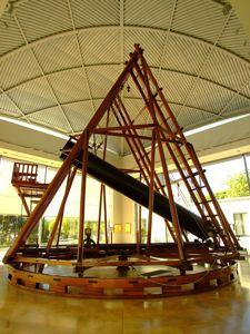 Real Observatorio Astronómico de Madrid, Telescopio Herschel, vista lateral
