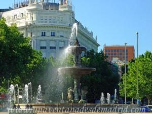 Campo Grande en El Retiro, Reproducción, en bronce, de la Fuente de la Alcachofa en la Glorieta de Atocha