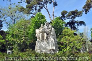 Campo Grande en El Retiro, Monumento a Ramón de Campoamor y Campoosorio