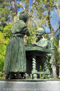 Campo Grande en El Retiro, Escena del poema Quién supiera escribir