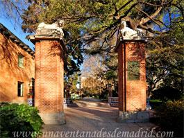 Parque del Retiro, Puerta de los Jardines del Arquitecto Herrero Palacios