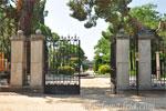 Parque del Retiro, Puerta Norte y Ocho columnas de los Jardines de Cecilio Rodríguez