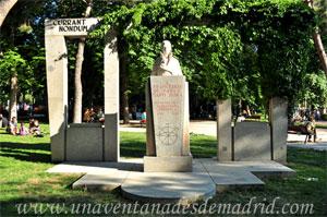 Retiro, Monumento a Francisco de Paula Martí Mora