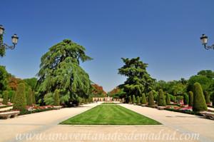 Retiro, Jardín del Parterre, paseo central