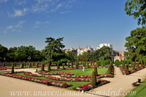 Retiro, Jardín del Parterre desde su vértice Nordeste