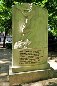 Retiro, Cara Sur del Monumento a Luis de Góngora
