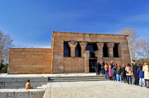 Templo de Debod, Fachada principal