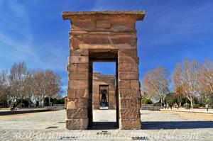 Templo de Debod, Primer pilono