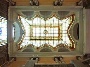 Museo Geominero, Vidriera sobre la escalera