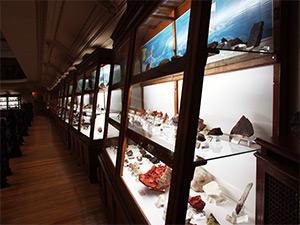 Museo Geominero, Vitrina con minerales en la segunda planta