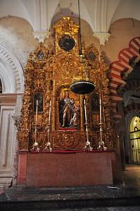 Catedral-Mezquita de Córdoba, Altar de Santa María el Azul y Ángel de la Guarda