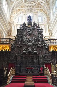 Mezquita de Córdoba, Trono episcopal