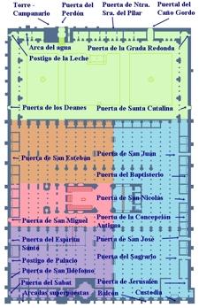 Catedral - Mezquita de Córdoba, Plano Mezquita, puertas