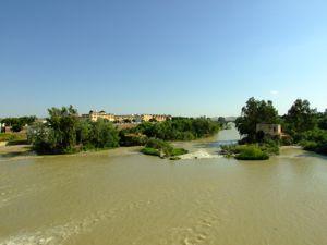 Córdoba, Molinos en el río cerca del Puente Romano