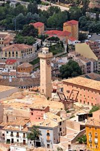 Cuenca, Torre de Mangana desde el Cerro del Socorro