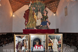 Cuenca, Iglesia de San Pedro, Paso procesional con la escena de San Pedro cortándole la oreja a Malco