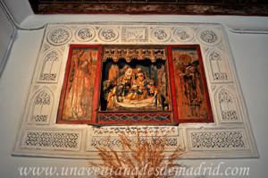 Monasterio de San Antonio el Real, Tríptico del Calvario en la Panda Norte