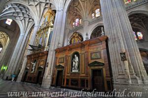 Catedral de Segovia, Costado del Coro por el lado del Evanglio