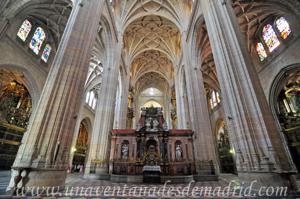 Catedral de Segovia, Nave central y trascoro
