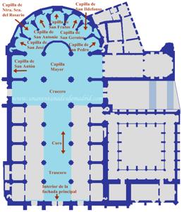 Catedral de Segovia, Plano de la nave central y de la cabecera