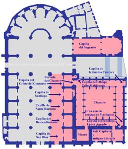 Catedral de Segovia, Plano de la Nave de la Epístola y del Claustro