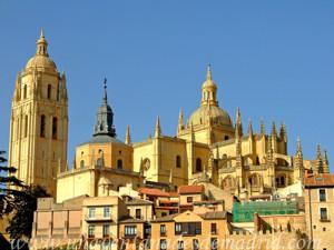 Catedral de Segovia, Vista desde el Camino Toro