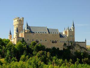 Segovia, Alcázar desde el Monasterio de El Parral