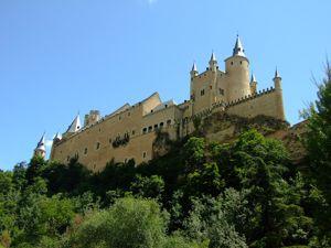 Segovia, Alcázar desde el Parque de El Alcázar