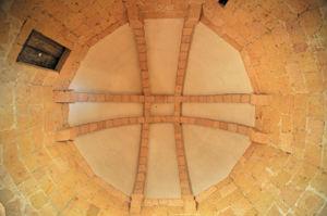 Cúpula de la segunda planta del Edículo de la Iglesia de la Vera Cruz