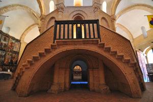 Escalera del Edículo de la Iglesia de la Vera Cruz