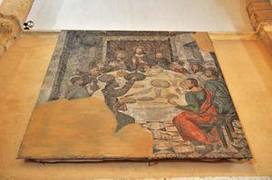 Lienzo con restos de la representación de la Santa Cena de la Iglesia de la Vera Cruz