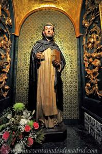 Segovia, Imagen de Santo Domingo de Guzmán expuesta en la Cueva
