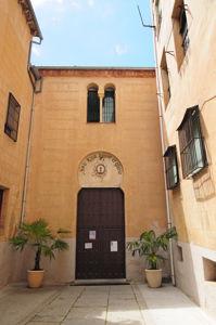 Segovia, Patio de acceso a la Antigua Sinagoga Mayor