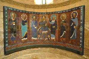 Apóstoles rodeando a Cristo