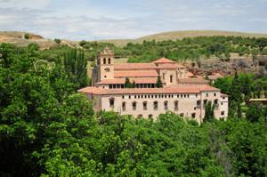 Segovia, Monasterio de Santa María del Parral desde el Jardín de los Poetas