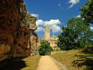 Segovia, Torre de la Catedral desde el Valle del Clamores